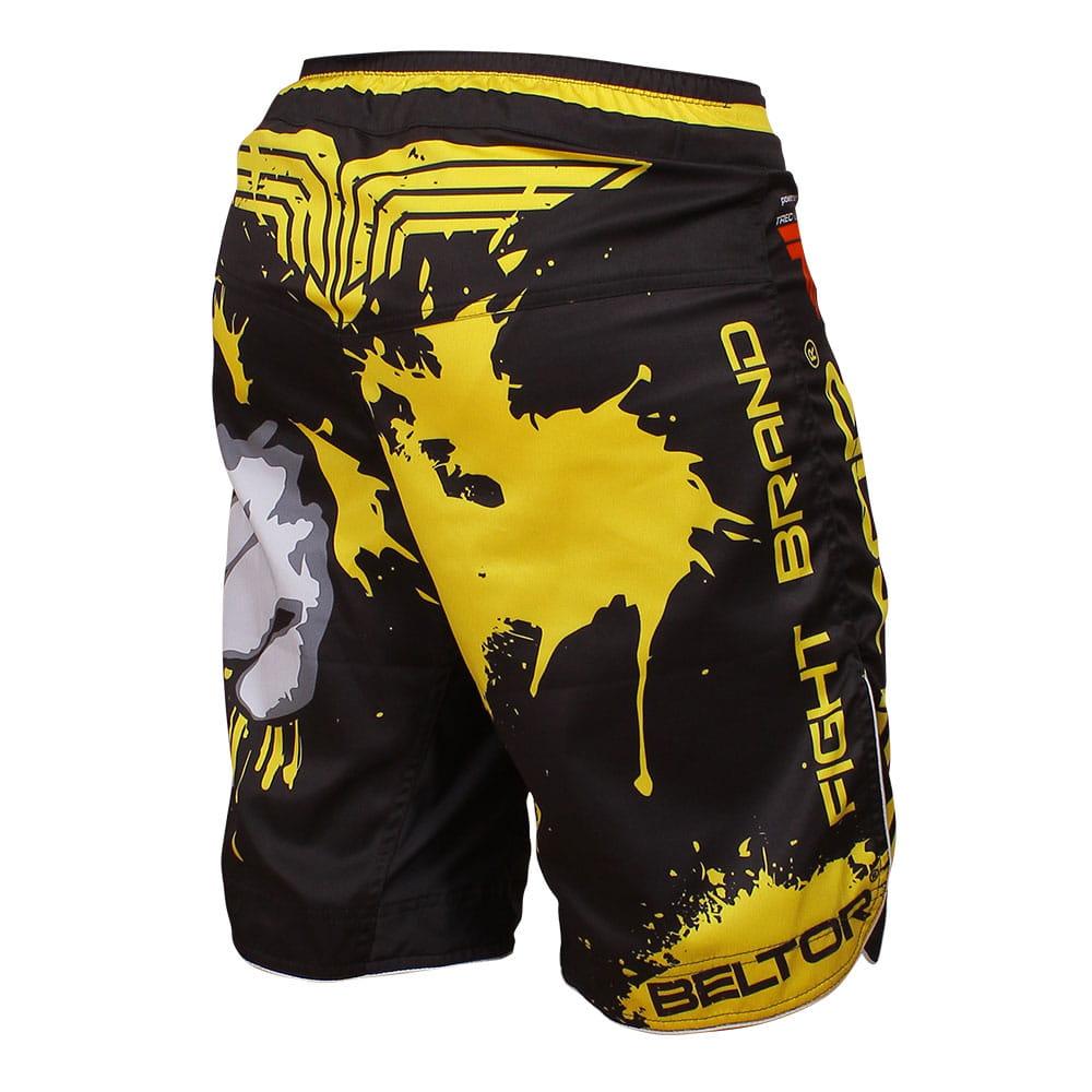 Brazilian Punch MMA shorts, black and yellow Beltor 1