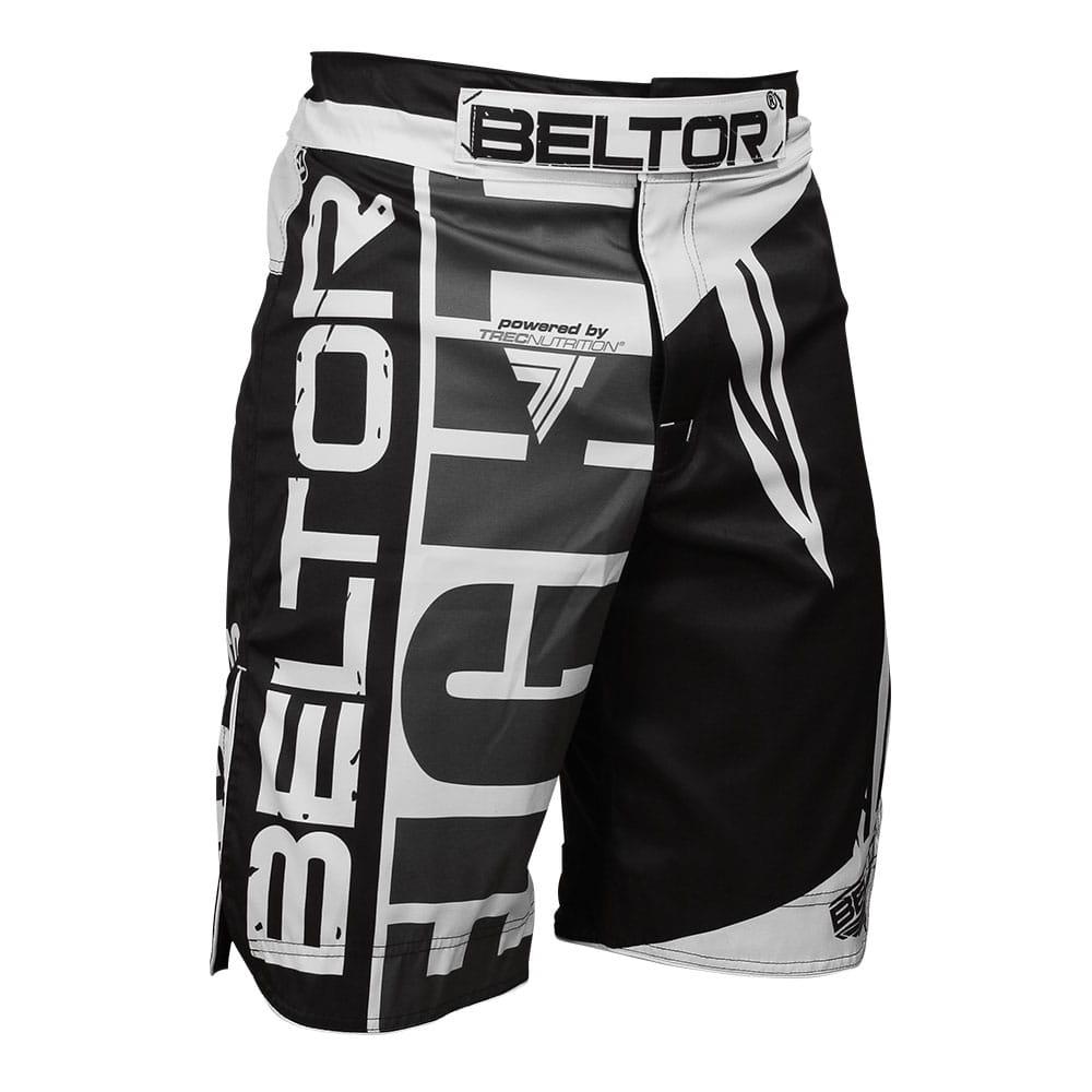 Spodenki MMA Fight czarno-białe Beltor