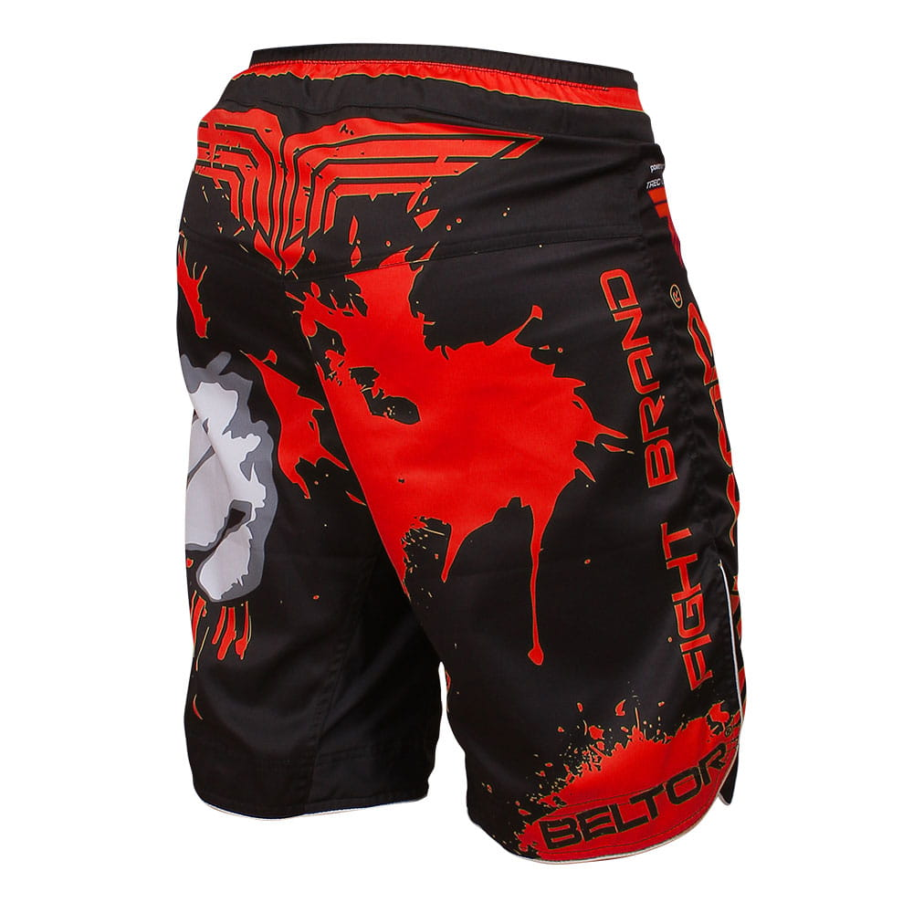 Red Punch MMA shorts black-red Beltor 1