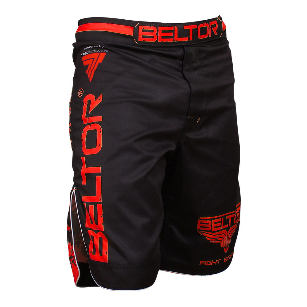 Red Punch MMA shorts black and red Beltor