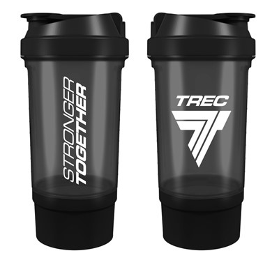 Shaker with a container for TREC supplements